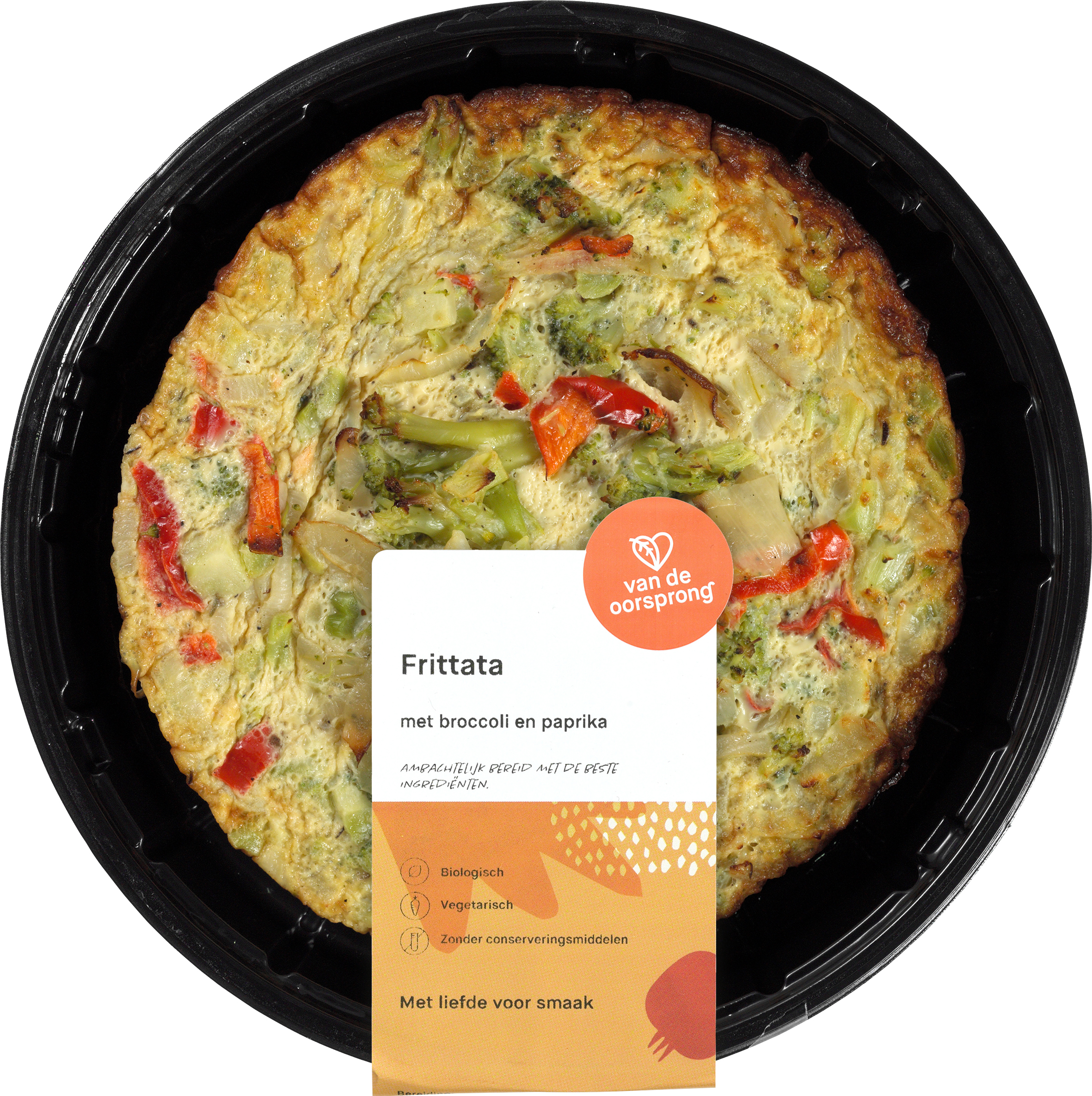 Frittata van ui, paprika en broccoli