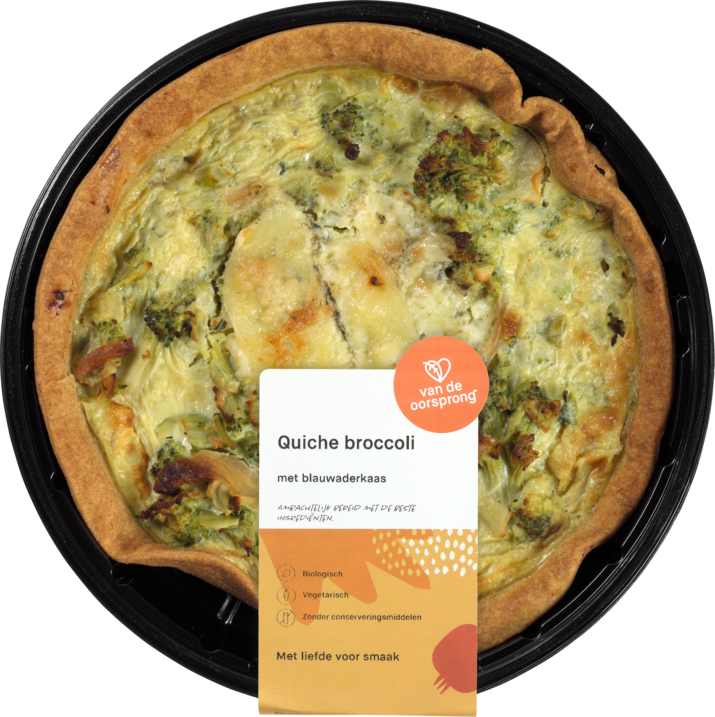 Quiche broccoli en blauwaderkaas