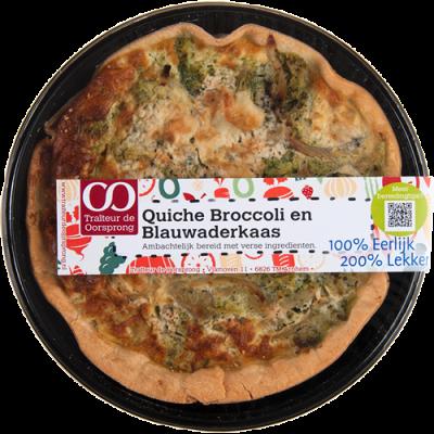 Quiche broccoli en blauwaderkaas