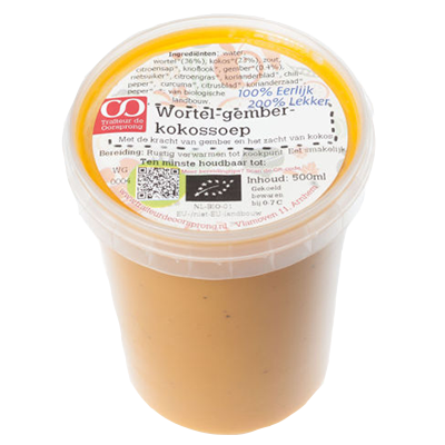 Wortel- gember- kokossoep